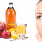سلامت پوست با سرکه سیب