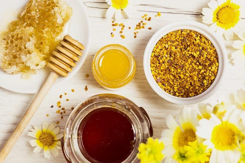 ترکیبات موجود در گرده گل زنبور عسل