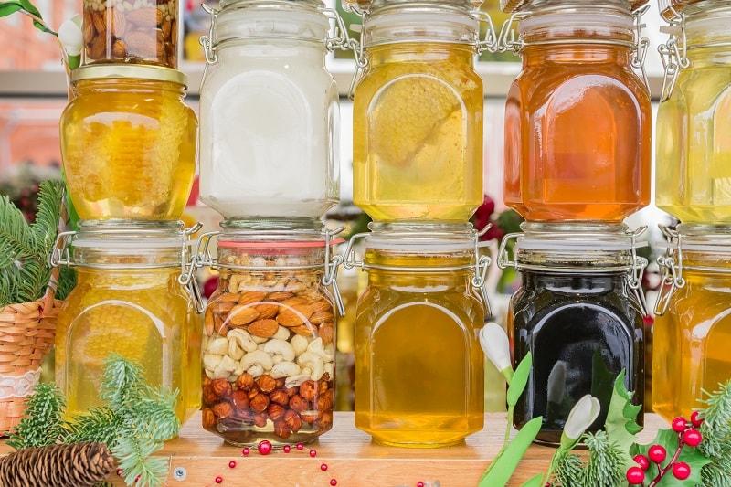 مقدار مخمرها در عسل