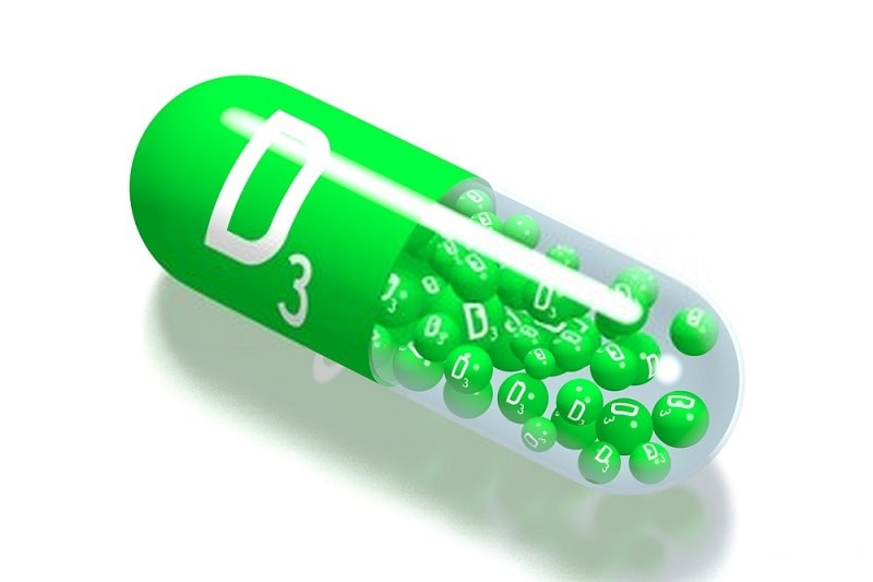 قرص پودر شده یا کپسول باز شده ویتامین D3