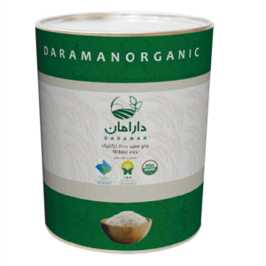 برنج سفید ارگانیک ۲.۵ کیلوگرمی دارامان