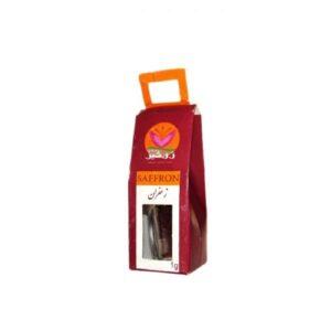 زعفران ارگانیک ۱ گرمی طرح کریستال زرخیز صفی آباد