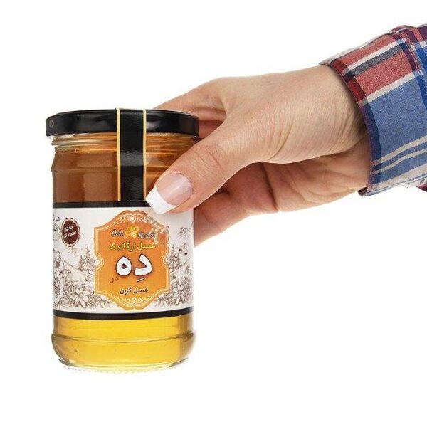 عسل گون ارگانیک 360 گرم ده در