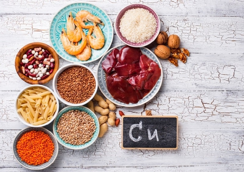 غالب آنزیم های عنصر مس در اغذیه