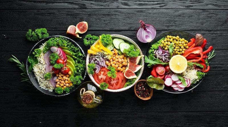 سبزیجات در خام گیاه خواری