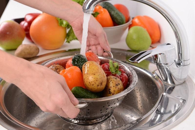 پاکیزگی میوه و سبزی